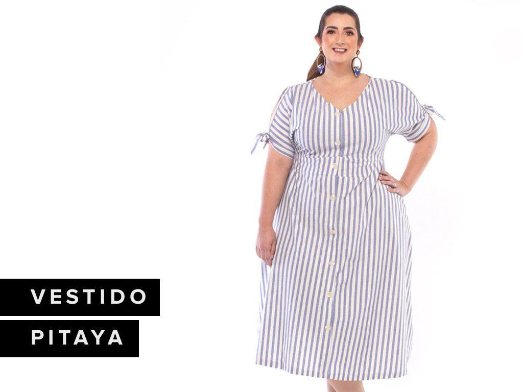 Vestido Zuya Plus Size Midi Pitaya