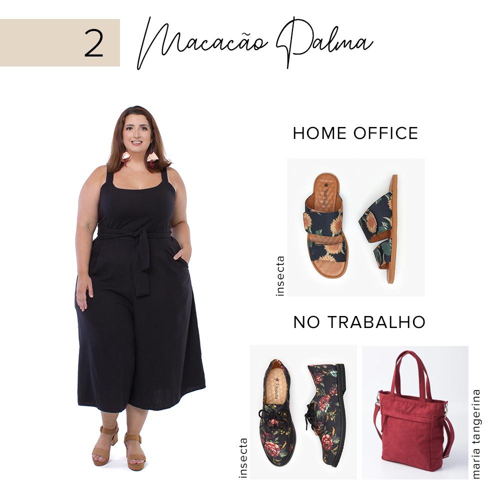 look plus size para trabalho e home office - macacão pantacourt palma - zuya